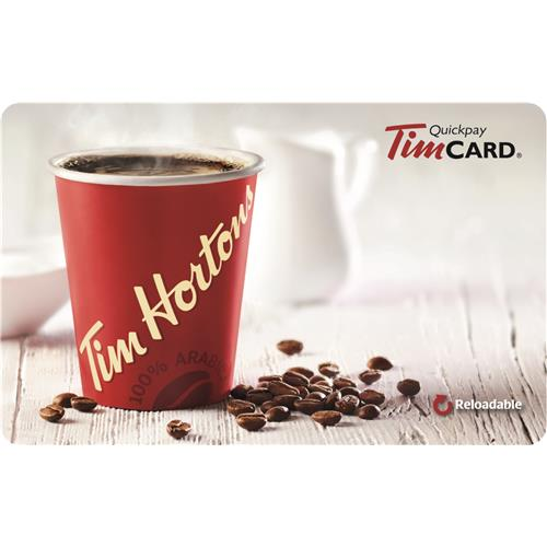 Tim Hortons $25 Gift Card - English 3,500 Points