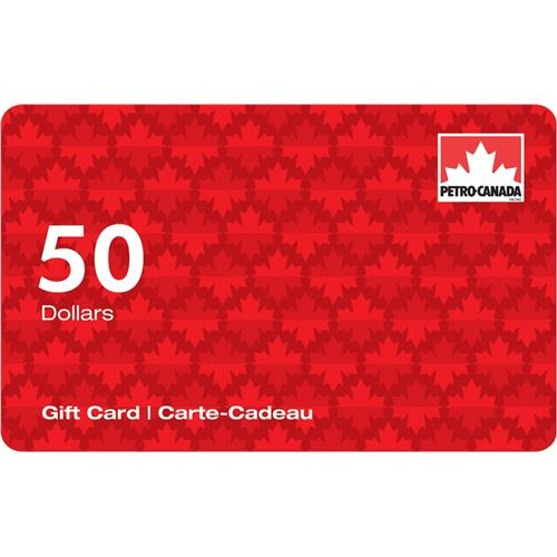 Carte-cadeau Petro-Canada de 50$CA 7 000 Points