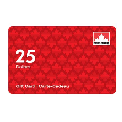Petro-Canada $25 Gift Card 3,500 Points