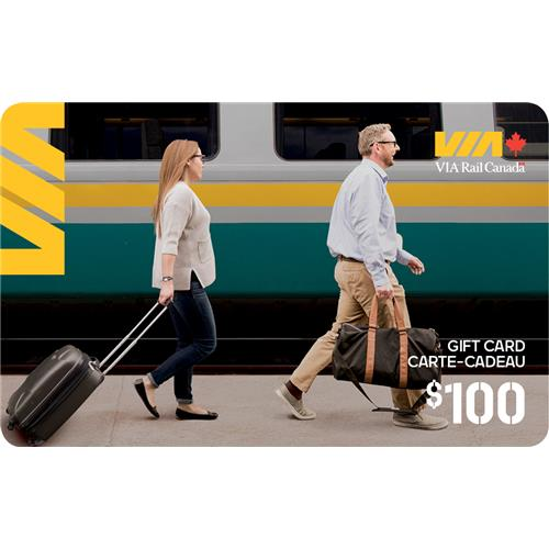 VIA Rail Canada Inc. $100 Gift Card