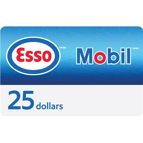 Carte-cadeau Esso de 25 $ 3 500 Points
