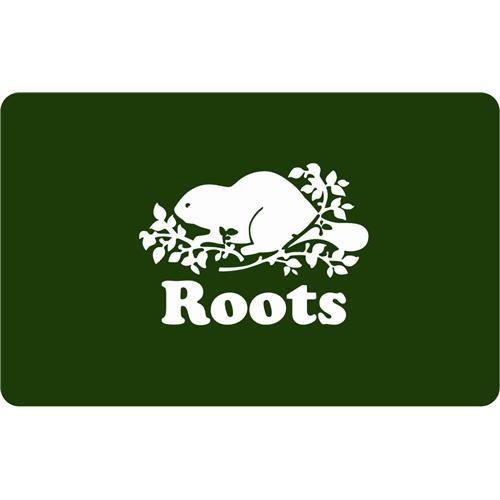 Carte-cadeau Roots Canada de 50 $