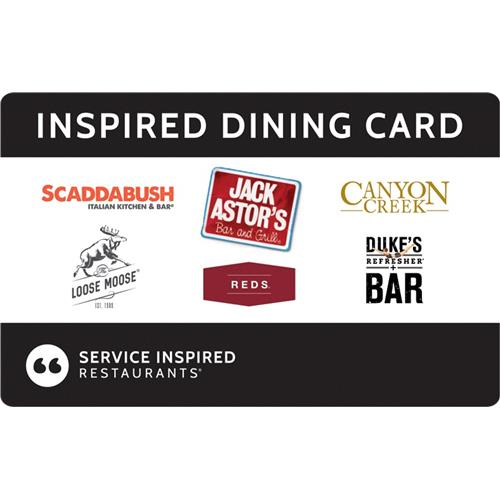 10% off- Inspired Dining Card $100