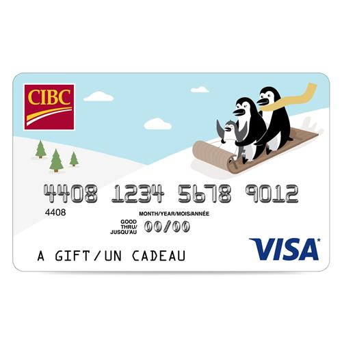 CIBC Visa* Prepaid Gift Card - $50 8,000 Points