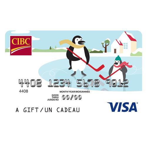 CIBC Visa* Prepaid Gift Card - $100 16,000 Points