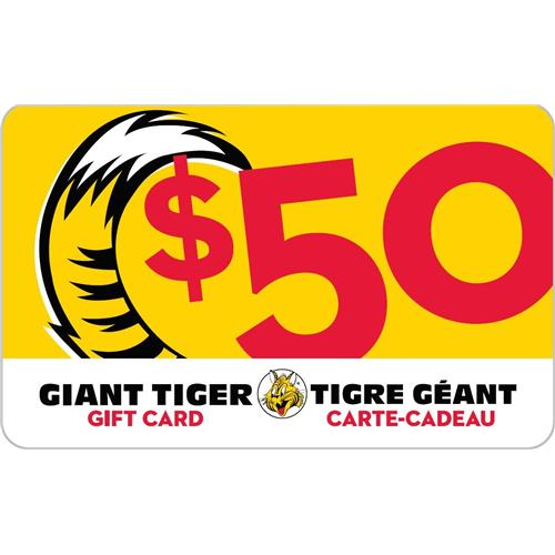 Carte-Cadeau Giant Tiger 50 $