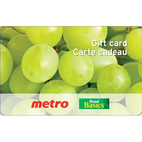 Carte-cadeau Metro / Food Basics de 50 $