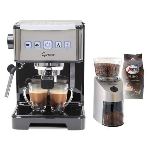 10% off- Capresso By Jura Ultima Pro Napoli 15-Bar Pump Espresso/ Cappuccino Maker with Grinder