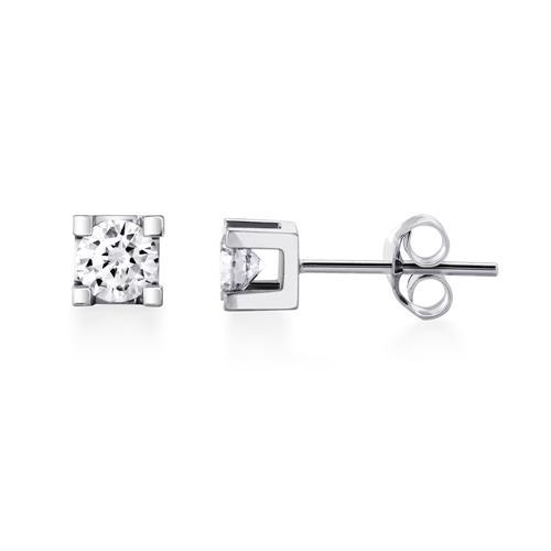 5ea6c5a94 Canadian Dreams Diamond Collection 1/10-Carat Canadian Diamond Square Set  Studs - White Gold