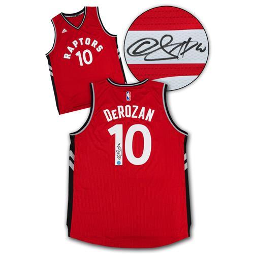 AJ Sportsworld DeMar DeRozan Toronto Raptors Autographed Swingman Basketball Jersey