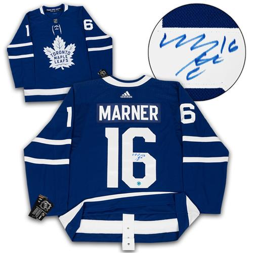 AJ Sportsworld Mitch Marner Toronto Maple Leafs Autographed Adidas Authentic Hockey Jersey