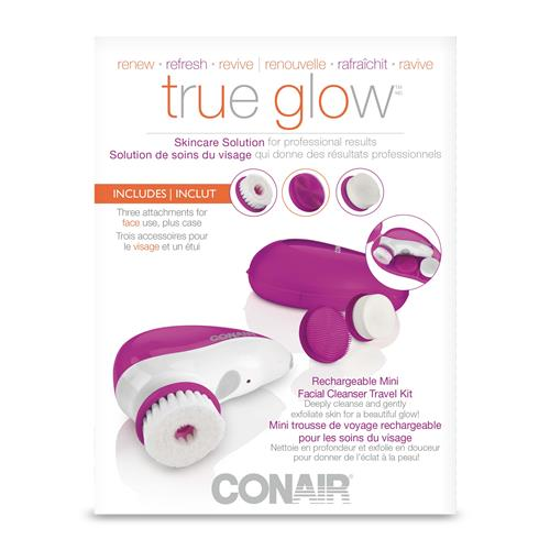 895335807 Conair® Rechargeable Mini Facial Cleanser Travel Kit - White Pink ...
