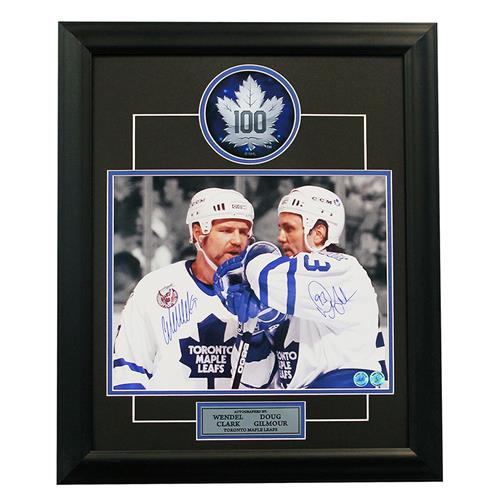 A.J. Sports World Gilmour and Clark Toronto Maple Leaf Signed Frame 31,900 Points