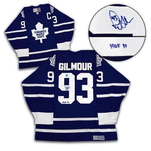 Maillot de hockey rétro A.J. Sports World des Maple Leafs de Toronto autographié par Doug Gilmour