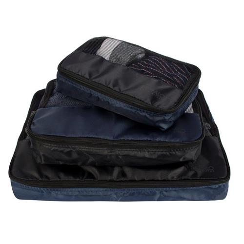 Buffalo® David Bitton Packing Cubes - 3-pc Set -Solid Navy