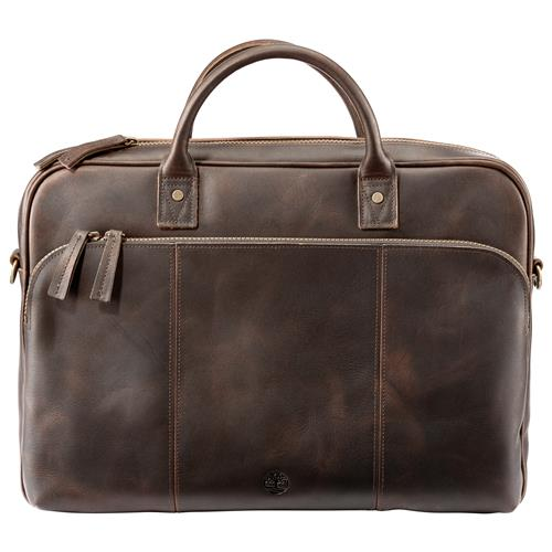 Timberland® Leather Briefcase – Medium Brown