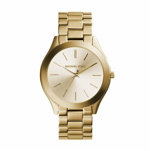 Michael Kors Slim Runway Stainless Steel Ladies Watch - Gold-Tone