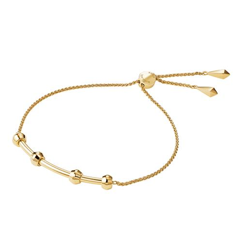 Michael Kors Precious-Metal-Plated Sterling Silver Starter Slider Bracelet – Gold Plated