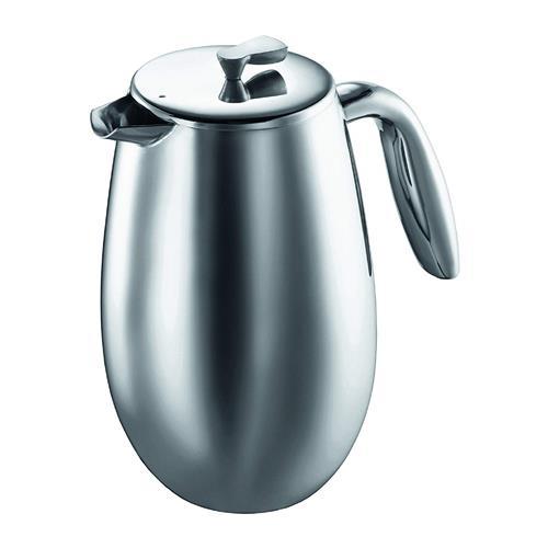 Cafetière à piston à double paroi de 1 l Columbia de Bodum® (acier inoxydable)