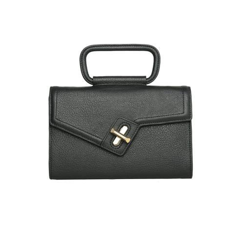 Ela Handbags MILCK Top Handle Clutch – Black