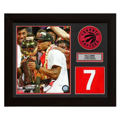 A.J. Sports World Kyle Lowry Toronto Raptors 2019 NBA Champion Jersey Number Frame
