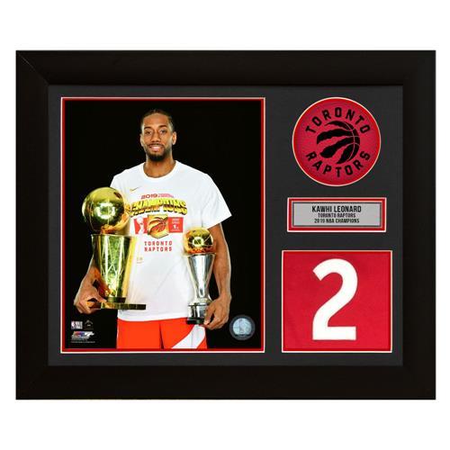 A.J. Sports World Kawhi Leonard Toronto Raptors 2019 NBA Champion Jersey Number Frame