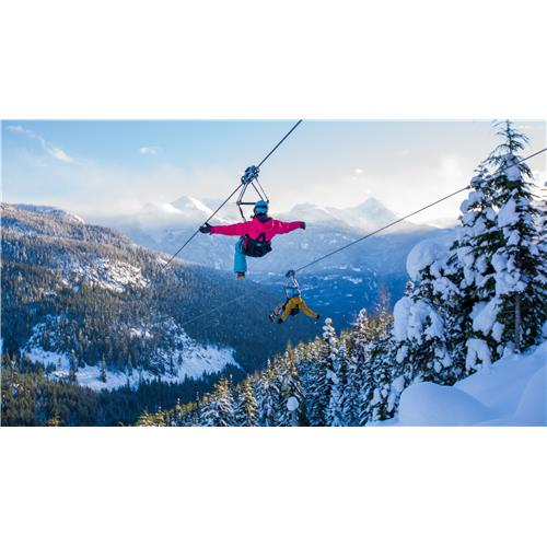 Excursion hivernale en tyrolienne Superfly Ziplines à Whistler, en C.-B. — enfant