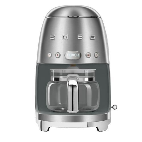 SMEG Retro-Style 10-cup Coffee Maker - Chrome