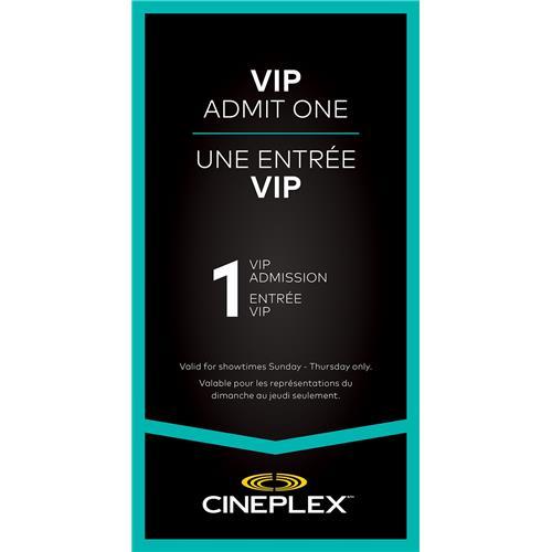 Cineplex VIP Admit One