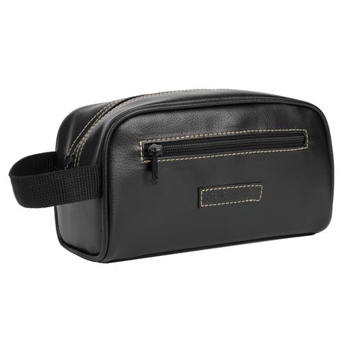 Steve Madden Top Zip Travel Kit – Black