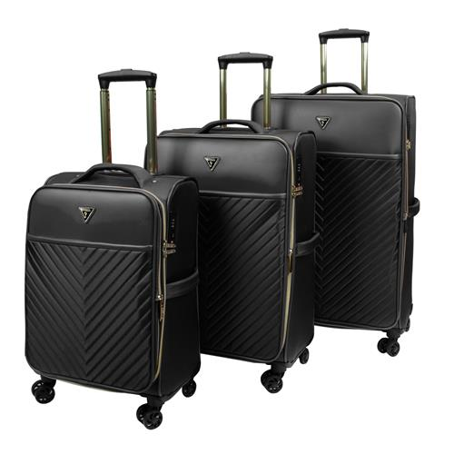 Guess® Luggage 3-Piece Melissa Luggage Set – Black