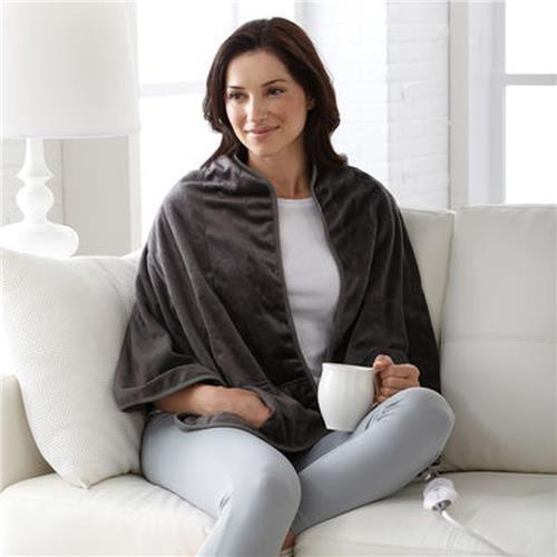 Sunbeam® Heated Personal Shawl – Grey