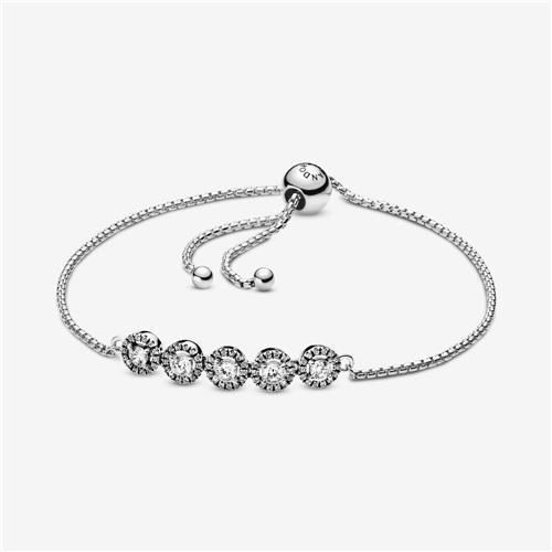 Bracelet à fermoir coulissant Éclat rond de Pandora (argent sterling)