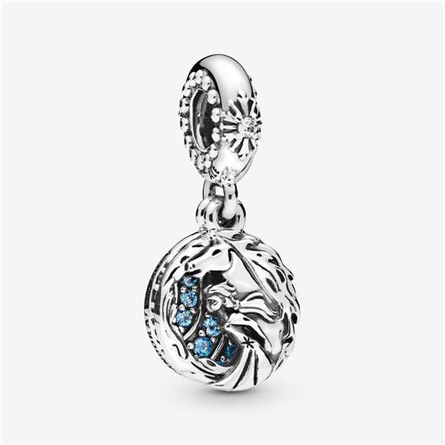 Breloque Pandora Elsa et Nokk de La Reine des neiges de Disney (argent sterling)