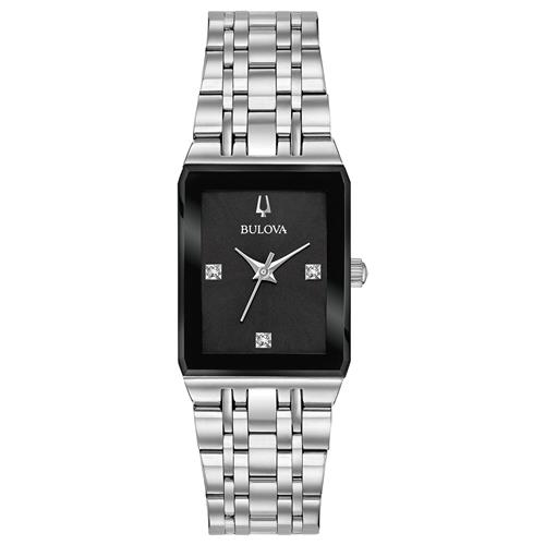 Bulova Women's Quadra Watch - Stainless Steel