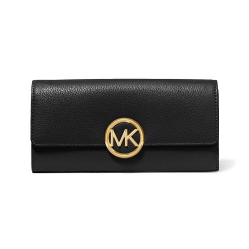 Grand portefeuille en cuir grainé Lillie de Michael Kors (noir)