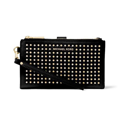 Michael Kors Adele Studded Leather Smartphone Wallet – Black
