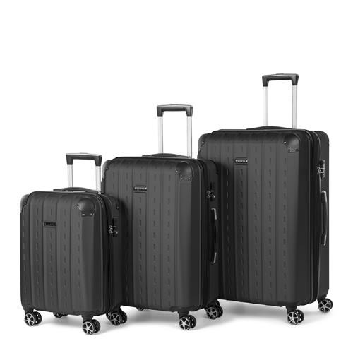 Ensemble de 3 valises à parois rigides Bugatti (noir)