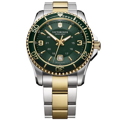 Victorinox Maverick Men's Watch - Two-Tone Green Dial Green