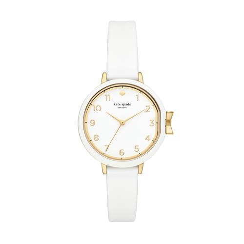 Kate Spade New York Gold-Tone and White Park Row Watch