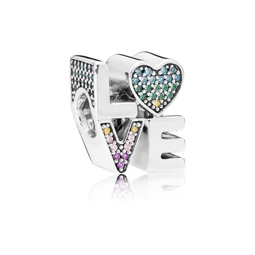 Pandora Multi-Colour Love Charm - Silver/Multi