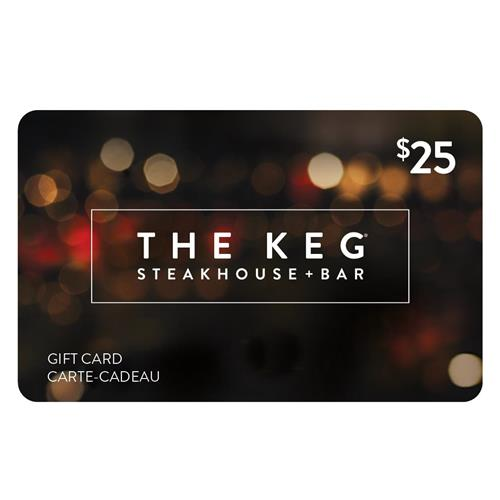 Carte-cadeau de Keg Steakhouse + Bar 25 $