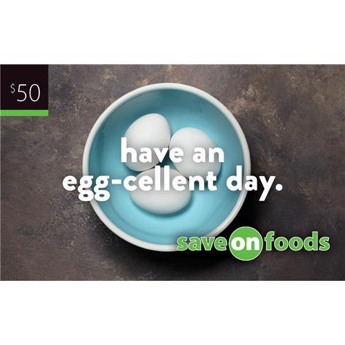 Carte-cadeau Save-On-Foods de 50 $