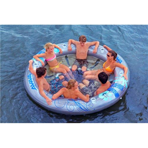 Rave Sports Inflatable Social Circle Pool Float - Six-Person