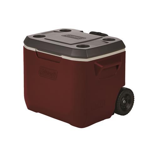 Coleman 50-Quart Xtreme® 3 Wheeled Cooler – Mahogany