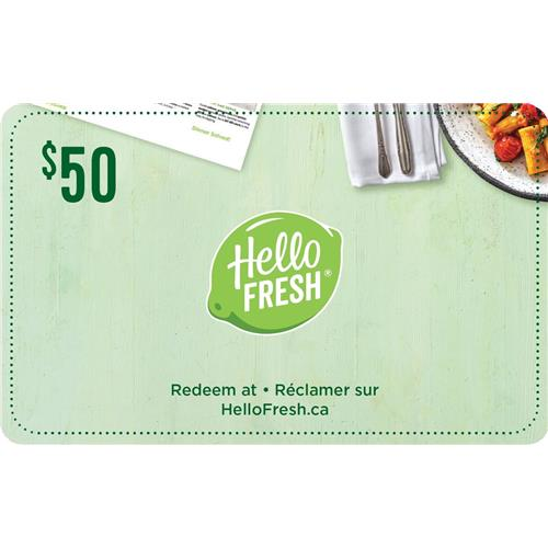 10% off - HelloFresh $50 Gift Card