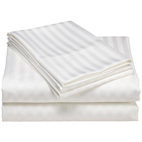 Ensemble de draps 4 pièces à motif jacquard Elite de North Home (blanc)