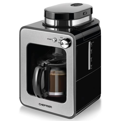 Chefman Mini Grind and Brew Coffee Maker - 4-Cup