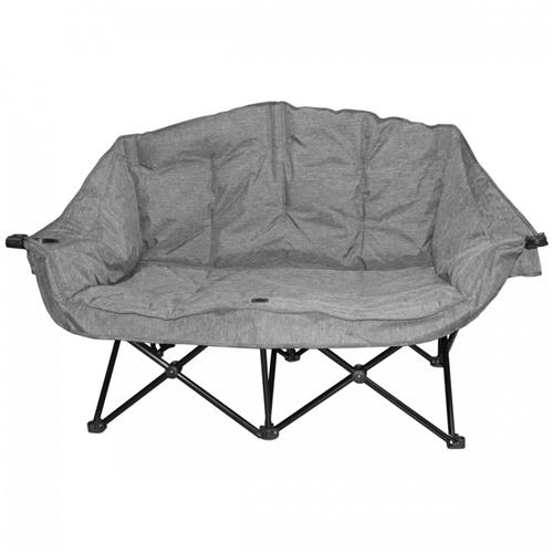 Kuma Bear Buddy Double Chair - Heather Grey