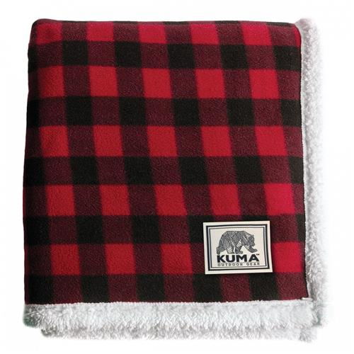 Kuma Lumberjack Sherpa Throw – Red/Black